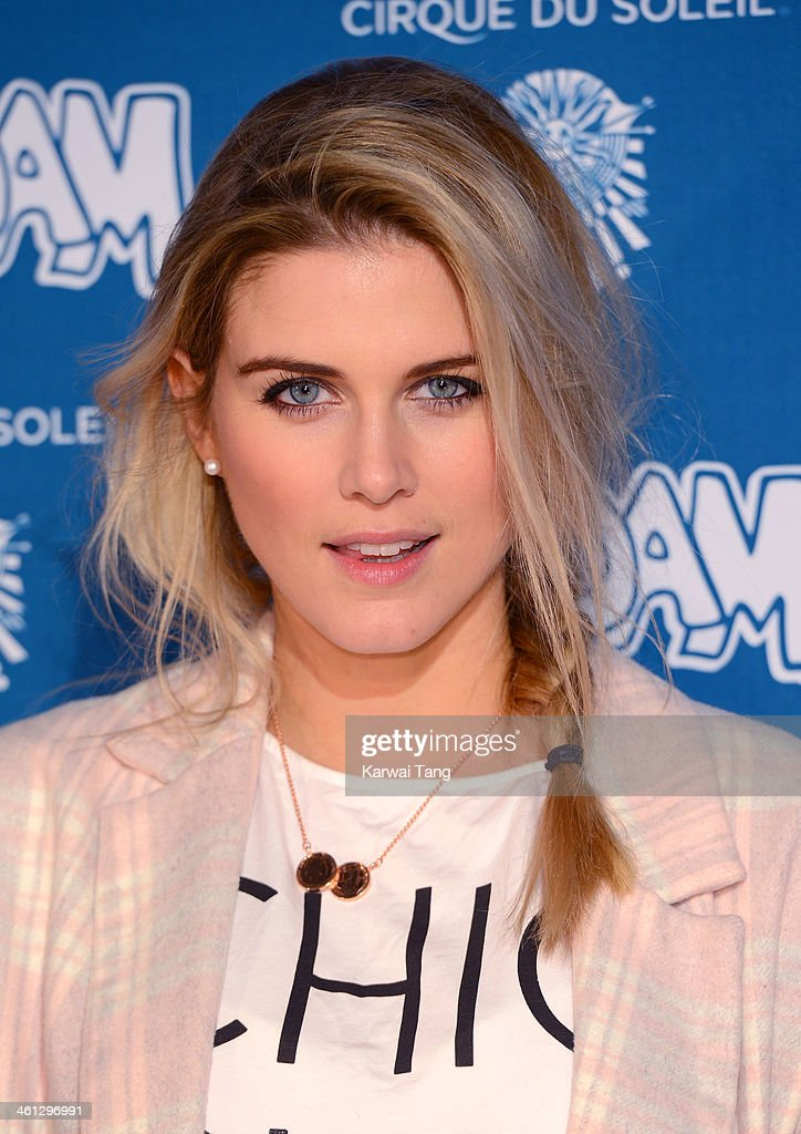 Ashley James attends the VIP night for Cirque Du Soleil: Quidam at Royal Albert Hall on January 7, 2014 in London, England.