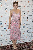 Ashley James attends the WGSN Global Fashion Awards at Park Lane Hotel on May 14 2015 in London England