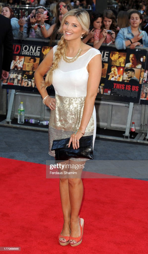 Ashley James attends the World Premiere of 'One Direction: This Is Us' at Empire Leicester Square on August 20, 2013 in London, England.