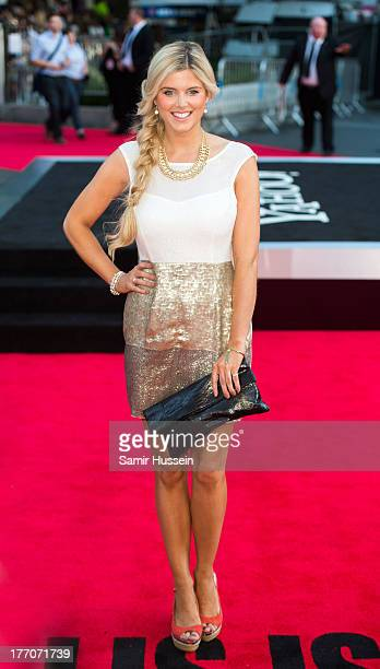 Ashley James attends the World Premiere of 'One Direction This Is Us' at Empire Leicester Square on August 20 2013 in London England