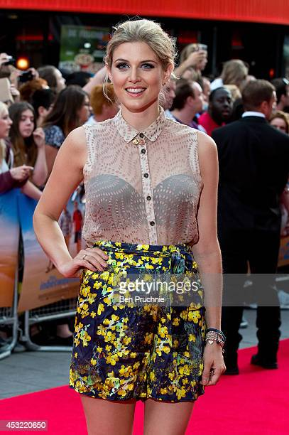 Ashley James attends the world premiere of 'The Inbetweeners 2' at Vue West End on August 5 2014 in London England