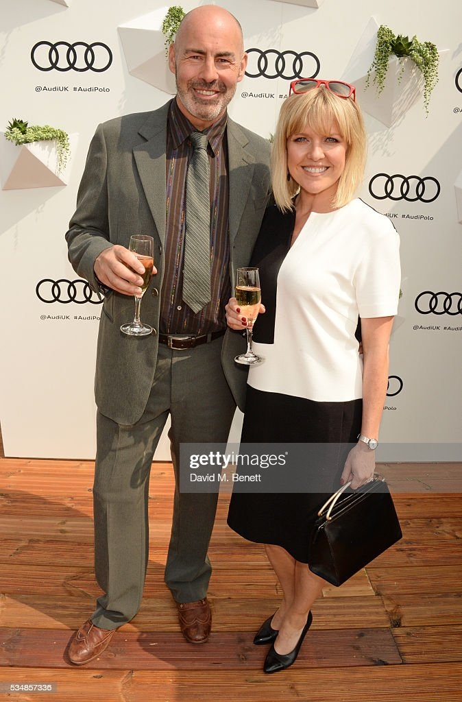<a gi-track='captionPersonalityLinkClicked' href=/galleries/search?phrase=Ashley+Jensen&family=editorial&specificpeople=589548 ng-click='$event.stopPropagation()'>Ashley Jensen</a> (R) and Terence Beesley attend day one of the Audi Polo Challenge at Coworth Park on May 28, 2016 in London, England.