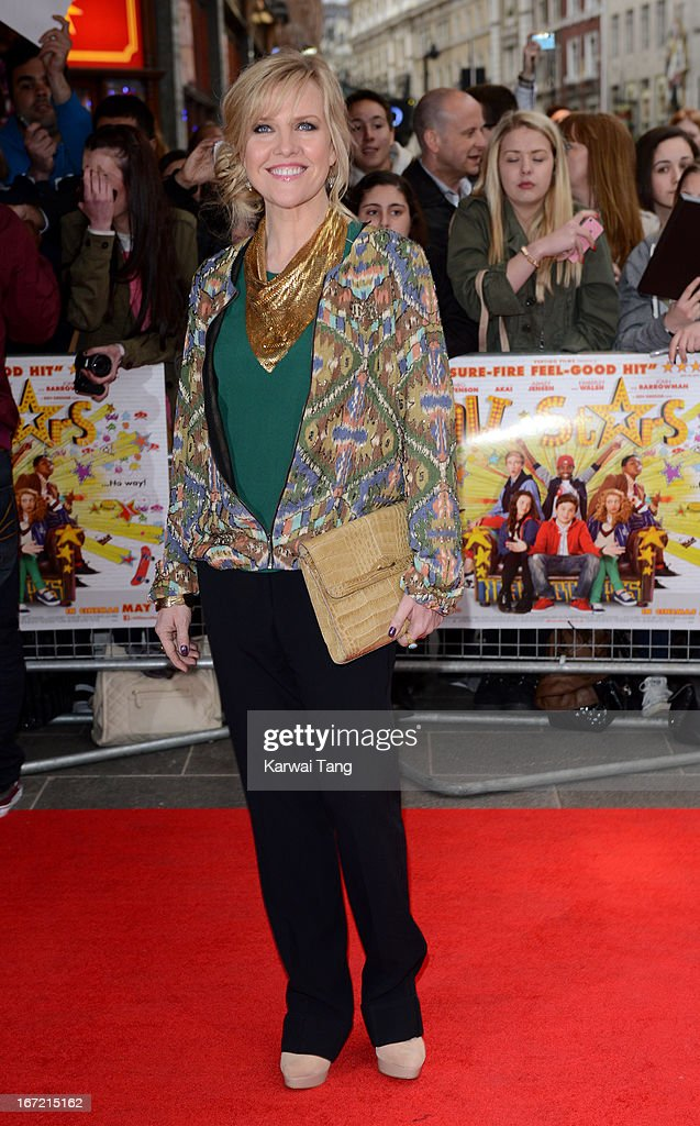 Ashley Jensen attends the UK Premiere of 'All Stars' at Vue West End on April 22, 2013 in London, England.