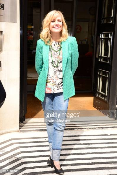 Ashley Jensen sighted at BBC Radio One on April 22 2013 in London England