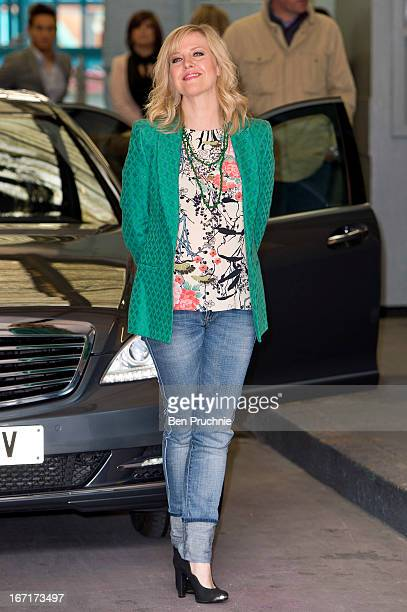 Ashley Jensen sighted departing ITV Studios on April 22 2013 in London England