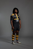 Ashley Johnson of Wasps poses for a picture during the Wasps photocall for BT at Twyford Training Ground on August 27 2015 in Acton England