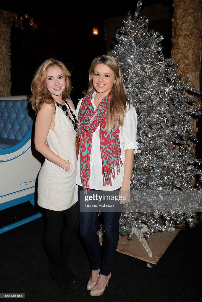 Ashley Jones and Ali Fedotowsky attend the Truehearts winter wonderland charity gala, benefiting Children's Hospital Los Angeles at Avalon on December 16, 2012 in Hollywood, California.