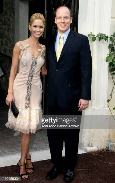 Ashley Jones and HSH Prince Albert II of Monaco during 46th Monte Carlo Television Festival Pool Festival at Price Palace in Monte Carlo Monaco
