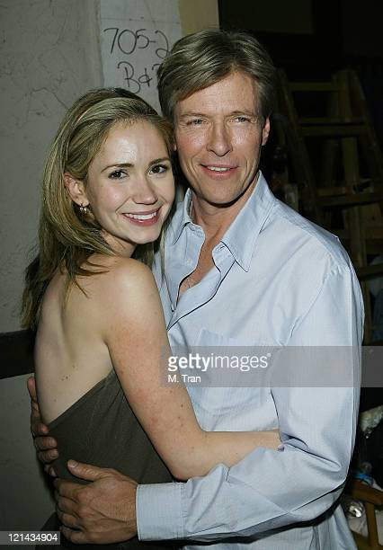 Ashley Jones and Jack Wagner during 'The Bold and the Beautiful' 5000th Episode Celebration January 23 2007 at Stage 31 CBS Television City in Los...