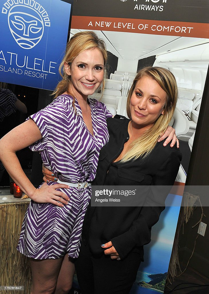 Ashley Jones and Kaley Cuoco attend the Vatulele Island Resort launch event in Los Angeles, California, on July 31, 2013 in Los Angeles, California.