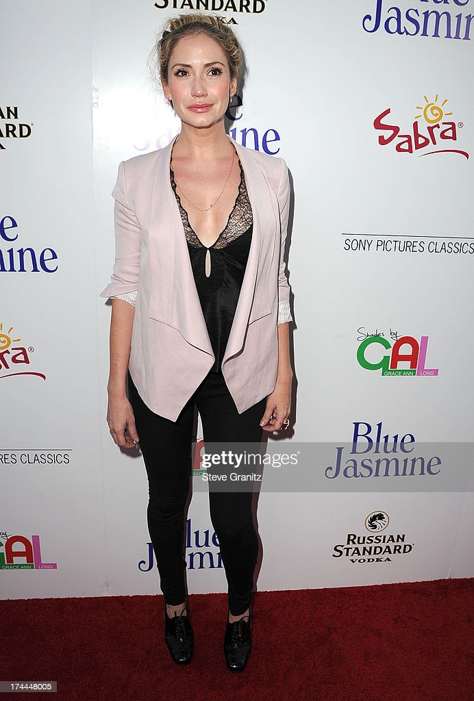 Ashley Jones arrives at the Sony Pictures Classics Presents Los Angeles Premiere Of 'Blue Jasmine' at the Academy of Motion Picture Arts and Sciences on July 24, 2013 in Beverly Hills, California.