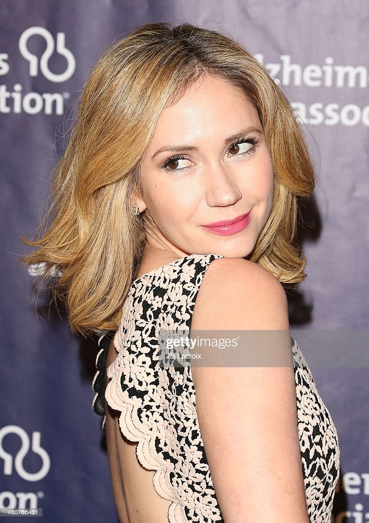 Ashley Jones attends 'A Night At Sardi's' To Benefit The Alzheimer's Association held at the Beverly Hitlon Hotel on March 26, 2014 in Beverly Hills, California.