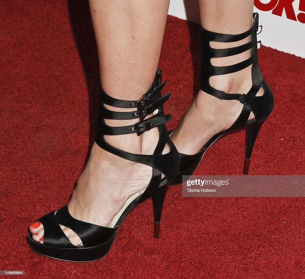 Ashley Jones (shoe detail) attends the OK! Magazine's sexy singles party at The Roxbury on June 7, 2012 in Hollywood, California.