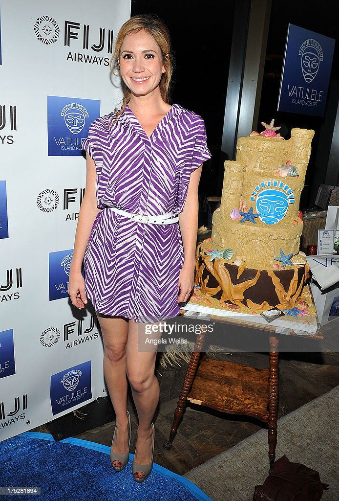 Ashley Jones attends the Vatulele Island Resort launch event in Los Angeles, California, on July 31, 2013 in Los Angeles, California.
