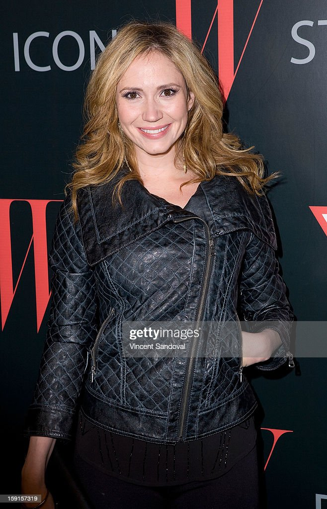 Ashley Jones attends W Magazine and Guess celebrating 30 years of fashion and film and the next generation of style icons at Laurel Hardware on January 8, 2013 in West Hollywood, California.