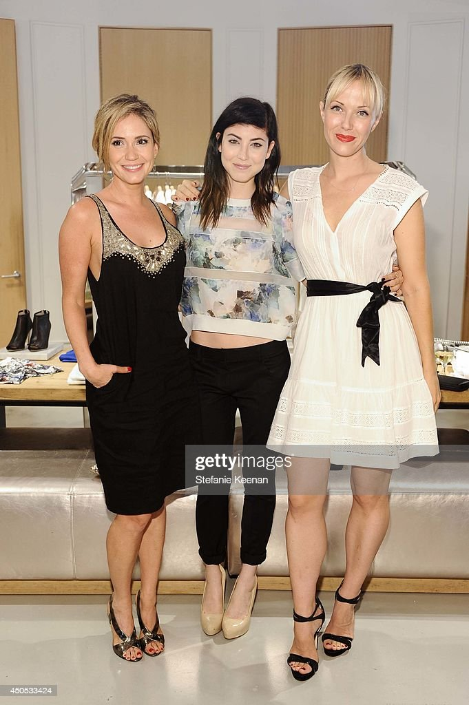 Ashley Jones, Briana Cuoco and Tara Swennen attend Rebecca Taylor, Sarah Michelle Gellar & Tara Swennen Celebrate The Launch Of The Little White Dress Capsule Collection Benefitting Baby Buggy at Rebecca Taylor on June 12, 2014 in Los Angeles, California.