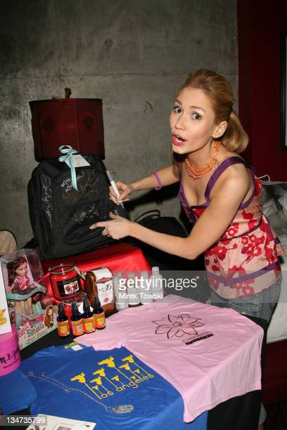 Ashley Jones during 2006 Celebrity Rock 'n Bowl with gift bags created by Klein Creative Communications at 'Lucky Strike Lanes' in Hollywood...