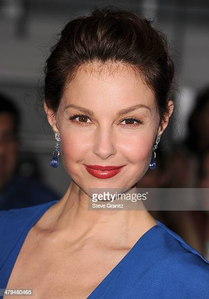 Ashley Judd arrives at the 'Divergent' Los Angeles Premiere at Regency Bruin Theatre on March 18 2014 in Los Angeles California