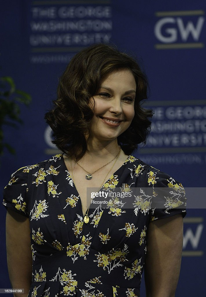 Ashley Judd attends the Progress And Perspectives: Women's Reproductive Health A Conversation With Ashley Judd at George Washington University on March 1, 2013 in Washington, DC.