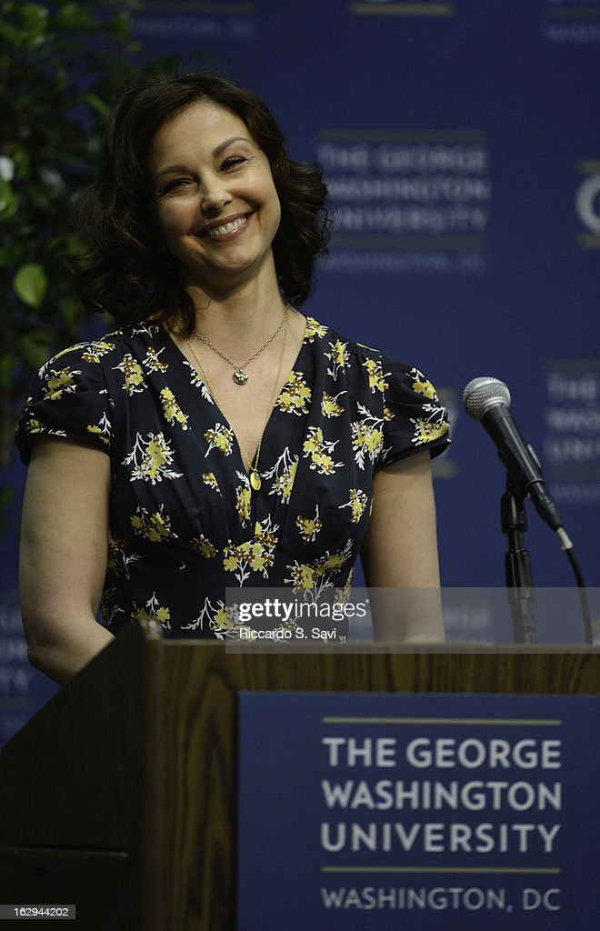 Ashley Judd speaks at the Progress And Perspectives: Women's Reproductive Health A Conversation With Ashley Judd at George Washington University on March 1, 2013 in Washington, DC.