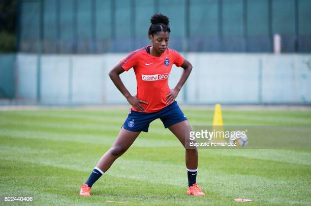 Ashley Lawrence of Paris Saint Germain during a training session of Paris Saint Germain at Bougival on July 25 2017 in Paris France