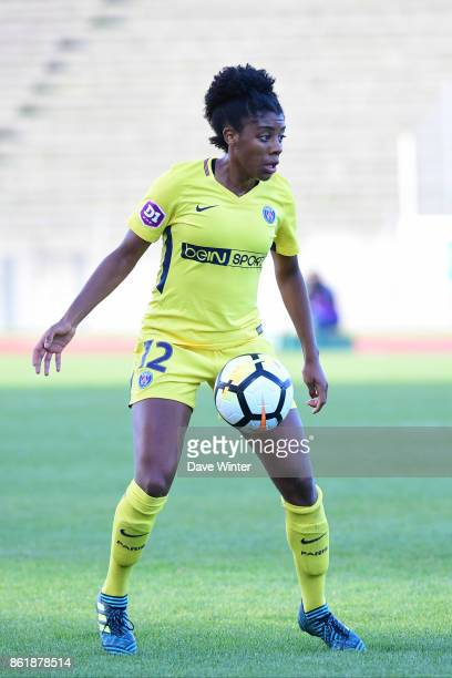 Ashley Lawrence of PSG during the women's Division 1 match between Paris FC and Paris Saint Germain on October 15 2017 in Paris France