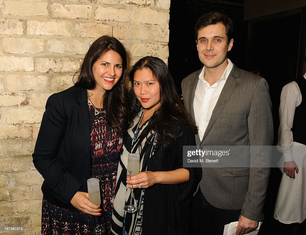 Ashley Lent, Mary Ellen Loc and Andrew Purcell attend Grey Goose hosted Sundance London Filmmaker Dinner at Little House on April 24, 2013 in London, England.