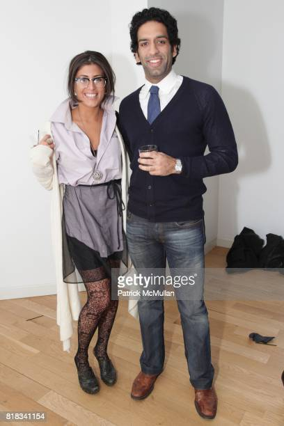 Ashley Lloret and Omeed Malik attend SUSAN WOO F/W 2010 Presentation supported by Belvedere at Bryant Park Hotel on February 13 2010 in New York City