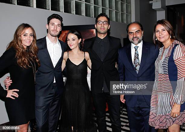 Ashley M Kent Guy Kent Marta Gastini Angad Aulakh Sonny Singh and Amrit Kaur attend the Screening of Freestyle Releasing's 'Autumn Lights' at...