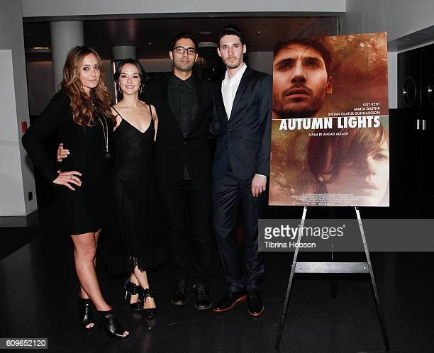 Ashley M Kent Marta Gastini Angad Aulakh and Guy Kent attend the Screening of Freestyle Releasing's 'Autumn Lights' at NeueHouse Hollywood on...