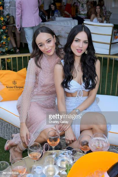 Ashley Madekwe and Eiza Gonzalez at the Eighth Annual Veuve Clicquot Polo Classic on October 14 2017 in Los Angeles California