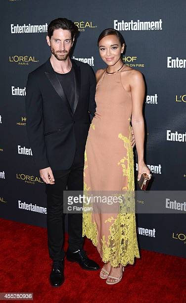 Ashley Madekwe and Iddo Goldberg attend the 2014 Entertainment Weekly PreEmmy Party at Fig Olive Melrose Place on August 23 2014 in West Hollywood...