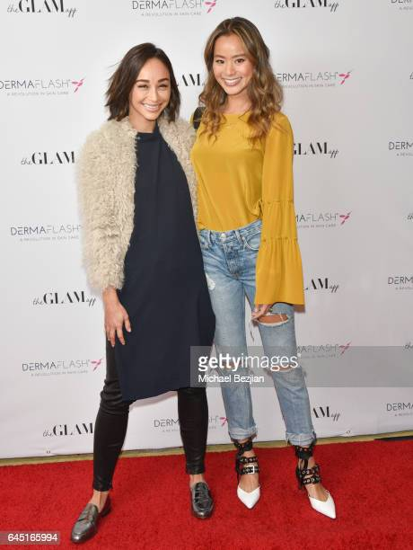 Ashley Madekwe and Jamie Chung attend The Glam App x DERMAFLASH Host PreOscars Suite at Peninsula Hotel on February 24 2017 in Beverly Hills...