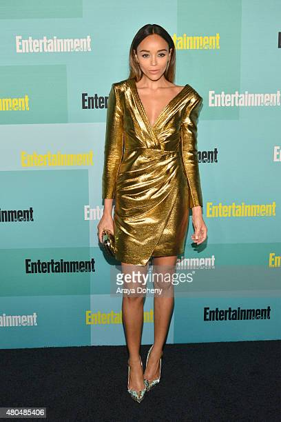 Ashley Madekwe arrives at the Entertainment Weekly celebration at Float at Hard Rock Hotel San Diego on July 11 2015 in San Diego California