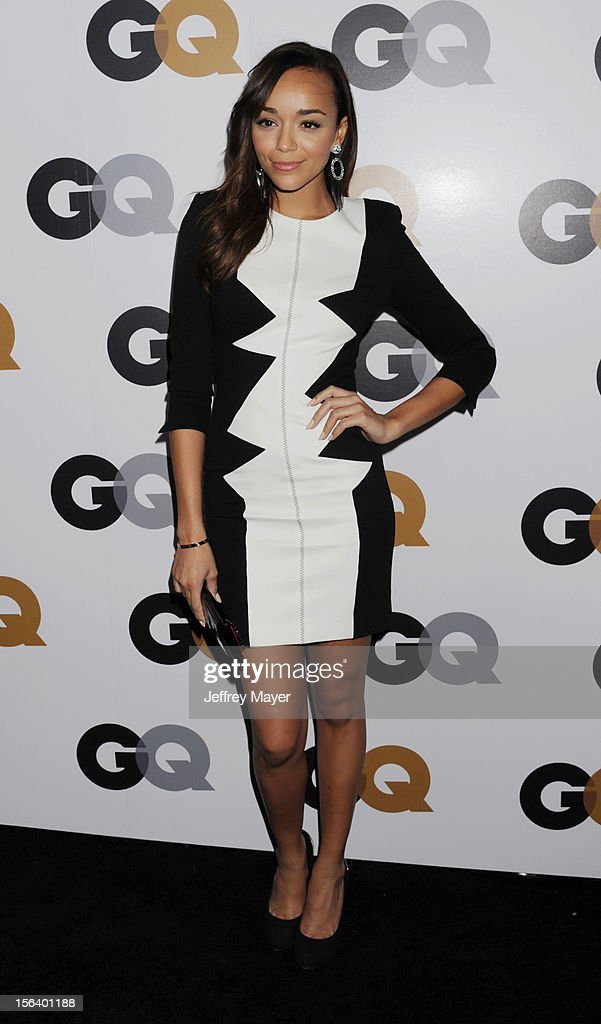 Ashley Madekwe arrives at the GQ Men Of The Year Party at Chateau Marmont Hotel on November 13, 2012 in Los Angeles, California.