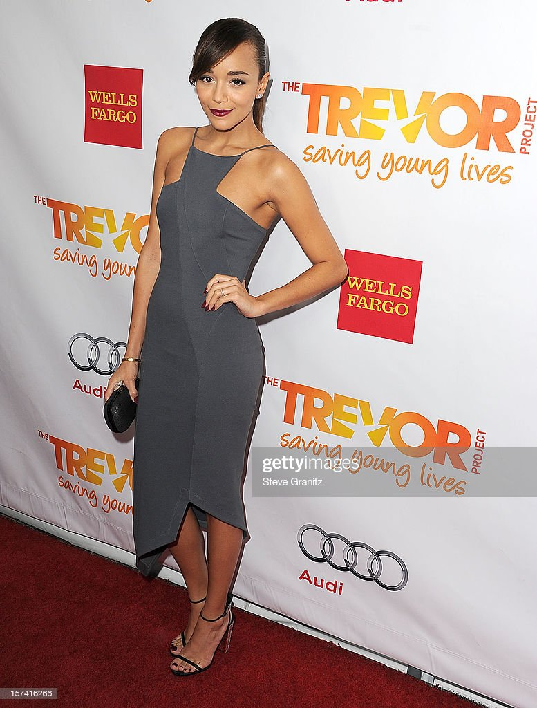 Ashley Madekwe arrives at the The Trevor Project's 2012 'Trevor Live' Event Honoring Katy Perry at Hollywood Palladium on December 2, 2012 in Hollywood, California.
