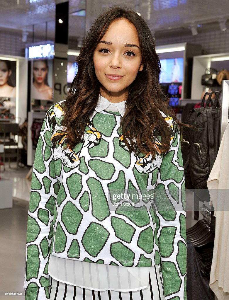 Ashley Madekwe attends press day at Topshop Topman at the Grove on February 12, 2013 in Los Angeles, California.
