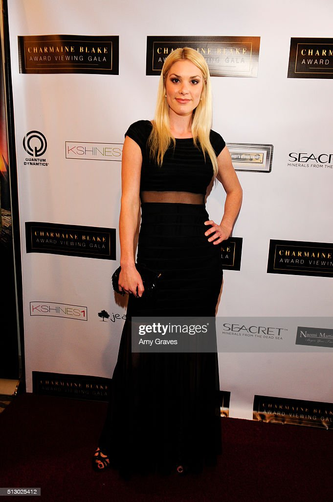 Ashley Madison attends the Charmaine Blake's Oscar Viewing Party Gala to Benefit Mission Save Her and Los Angeles County Education Foundation on...