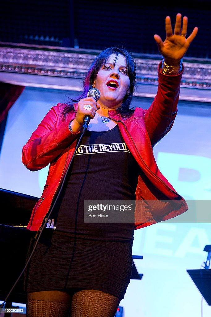 Ashley Marinaccio, Founder/Artistic Director of Girl Be Heard, attends 'Girl Be Heard' Rebranding Launch Event at The Cutting Room on January 28, 2013 in New York City.