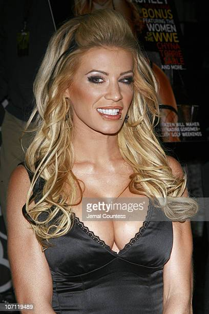 Ashley Massaro during Ashley Massaro Signs the April 2007 Issue of 'Playboy' at Virgin Megastore in Times Square March 8 2007 at Virgin Megastore...