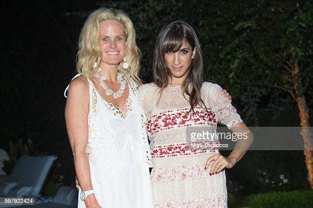 Ashley McDermott and EBTH Chief Brand Officer of EBTH Mandana Dayani attend the Ashley And Jeff McDermott host an intimate Hamptons party for EBTH on...