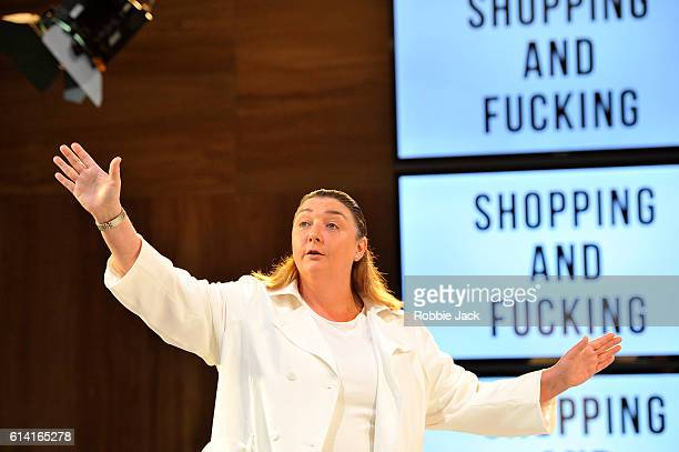 Ashley McGuire as Brian in Mark Ravenhill's Shopping And Fucking directed by Sean Holmes at the Lyric Theatre Hammersmith on October 10 2016 in...