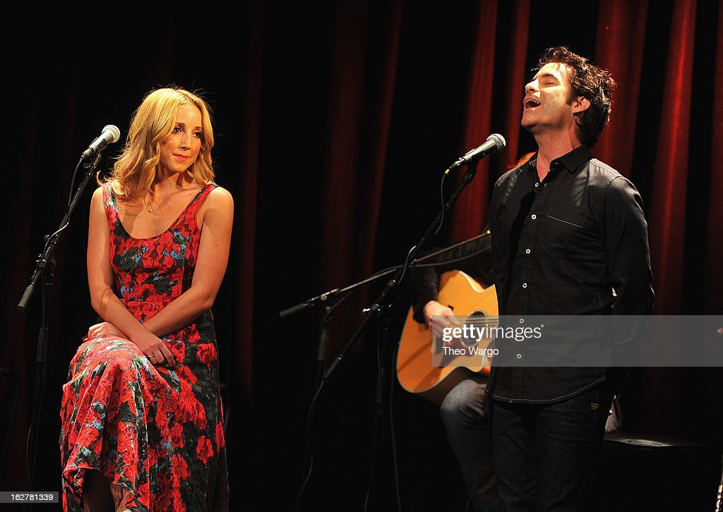 Ashley Monroe and Pat Monahan perform during All For The Hall New York Benefiting The Country Music Hall Of Fame at Best Buy Theater on February 26, 2013 in New York City.