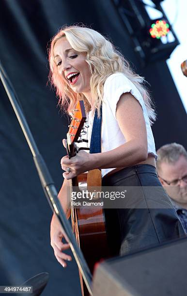 Ashley Monroe performs during Americana's Cross County Lines at The Park at Harlinsdale Farm on May 31 2014 in Franklin Tennessee