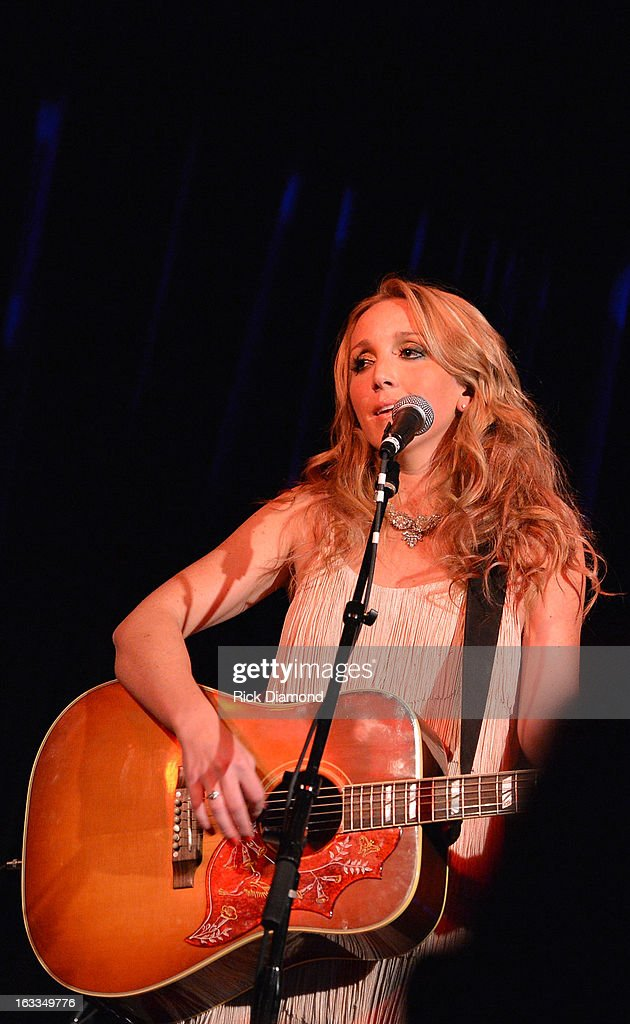 Ashley Monroe performs during the Ashley Monroe Album Release Party for ' Like a Rose' at 3rd & Lindsley on March 7, 2013 in Nashville, Tennessee.