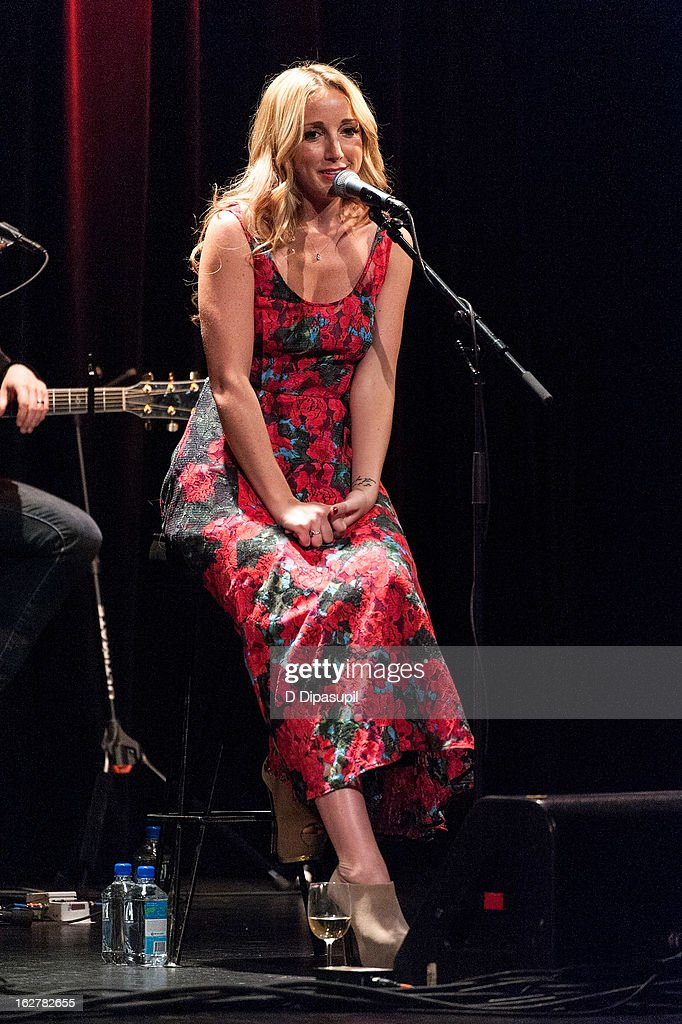 Ashley Monroe performs on stage during the All For The Hall New York concert benefiting the Country Music Hall Of Fame at Best Buy Theater on February 26, 2013 in New York City.