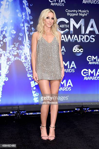 Ashley Monroe poses in the press room during the 48th annual CMA Awards at the Bridgestone Arena on November 5 2014 in Nashville Tennessee
