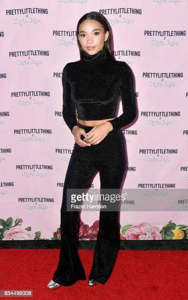 Ashley Moore attends PrettyLittleThing X Olivia Culpo Launch at Liaison Lounge on August 17 2017 in Los Angeles California