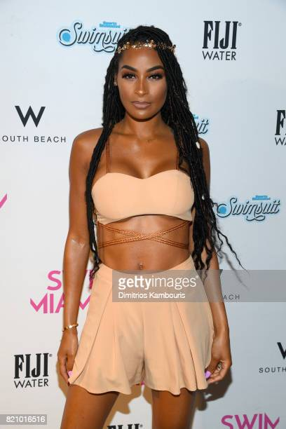 Ashley Nicole attends the SWIMMIAMI Sports Illustrated Swimsuit 2018 Collection at WET Deck at W South Beach on July 22 2017 in Miami Beach Florida