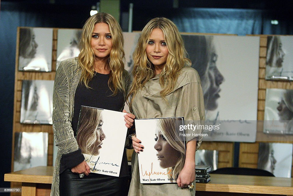 Ashley Olsen and Mary Kate Olsen attend a book signing session for 'Influence' on Novenber 12 2008 at Borders books store in Westwood California